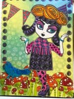 Dylusions - Rubber Stamps - Crown of Roses